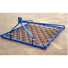 Heavy Grass Single Tine Harrows Mounted