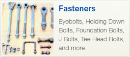 fasteners including eyebolts, hold down bolts and more