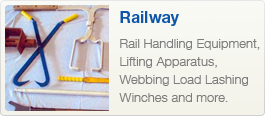 Rail Handling Equipment, Lifting Apparatus, Webbing Load Lashing Winches